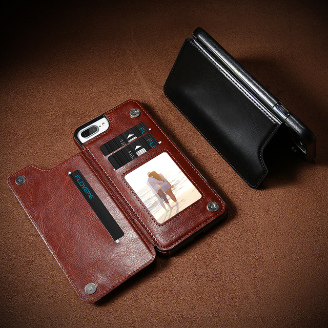 Leather Wallet Cases For iPhone 6/7/8, 6/7/8 Plus, X