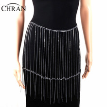 Chran  Fashion Gypsy Gun Black Metal Dangle Sexy Boho Turkish Bohemian Shimmy Belt Dance Beach Chain Wear Jewelry CRBJ128