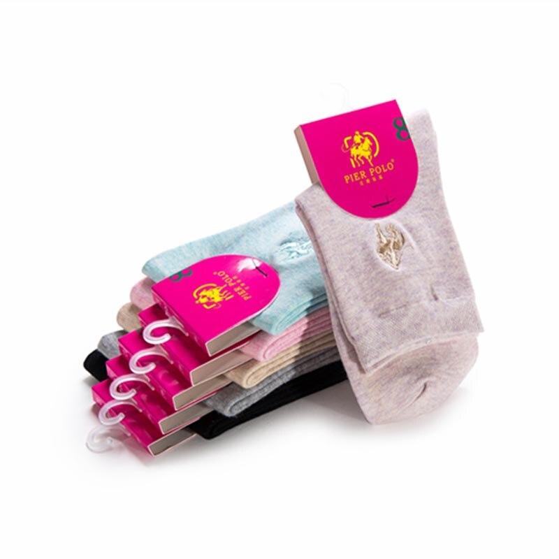 1dcd5156b34e9 6 пар ярких цветов Новые поступления женские хлопок в носки без пятки Носки  для девочек Pier поло Носки для девочек