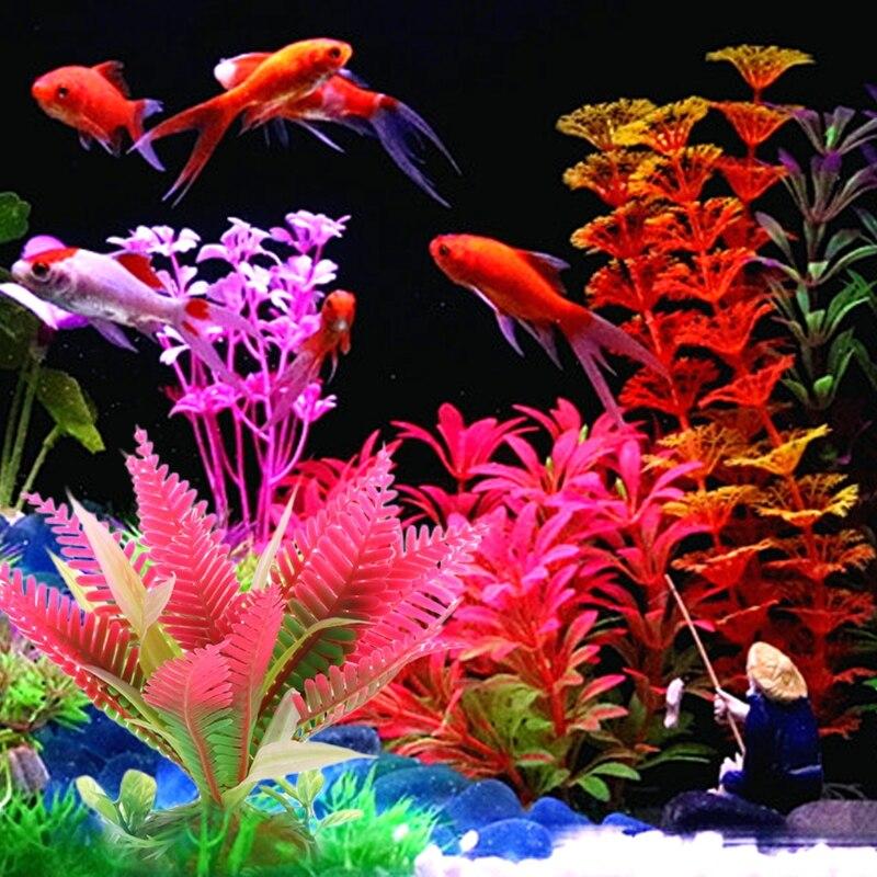 Aquarium Grama Artificial Underwater Flower Water Plant Grass Fish Tank Landscape Decoration Aquarium Background Ямча
