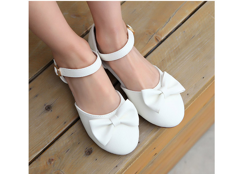 baby Girls bow shoes, 1-6 yrs Childrens Korean style Princess wear, kids Retail leather wear, 1AS503-18R , Eleven Story