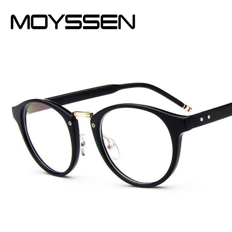 81005b1d9a5 MOYSSEN Fashion Men s Vintage Johnny Depp Brand Thom Round Optical Glasses  Frame Retro Browne Eyeglasses Prescription