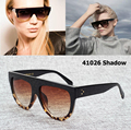 Women Fashion Cat Eye 41026 Shadow 3 Dots Sunglasses Brand Design Gradient Sun Glasses Eyewear Eyeglasses Oculos De Sol Feminino