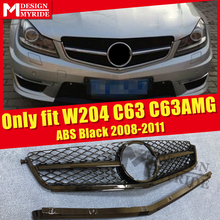 Only Fits For MercedesMB W204 C63AMG Look Grille Grills C Class C63 C63AMG Style ABS Black Front Grills Without Sign 2008-2011 only fits for mercedesmb w204 c63amg look grille grills c class c63 c63amg style abs black front grills without sign 2008 2011