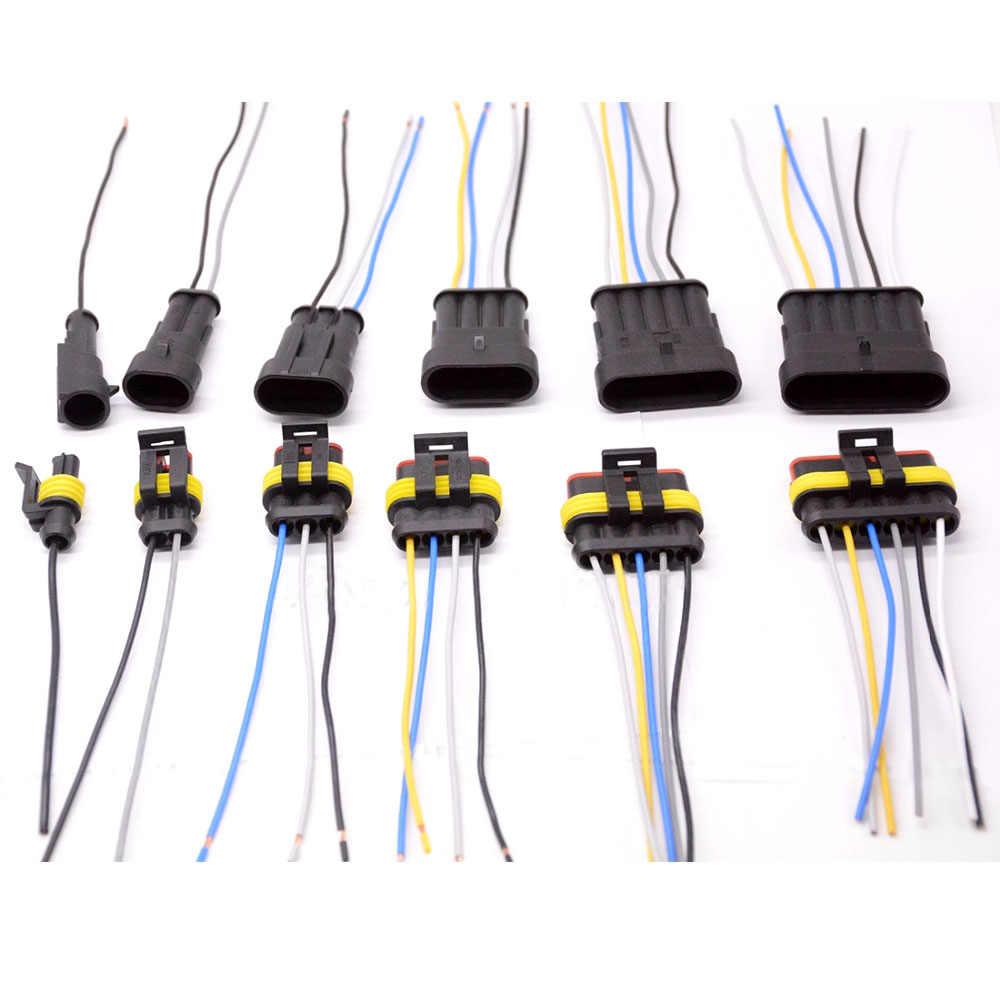 1 2 3 4 5 6 way 1p 2p 3p 4p 5p auto connector male &