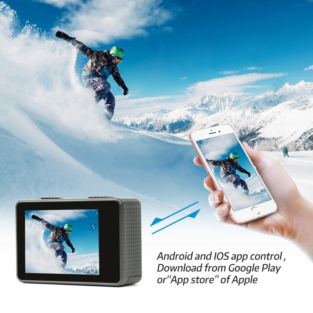 Caméra d'action étanche WiFi 4 K SHOOT T31 1080 P/60FPS caméra Ultra HD avec objectif grand Angle de 170 degrés pour Go Pro Hero 7 5 6 Yi h9 - 5