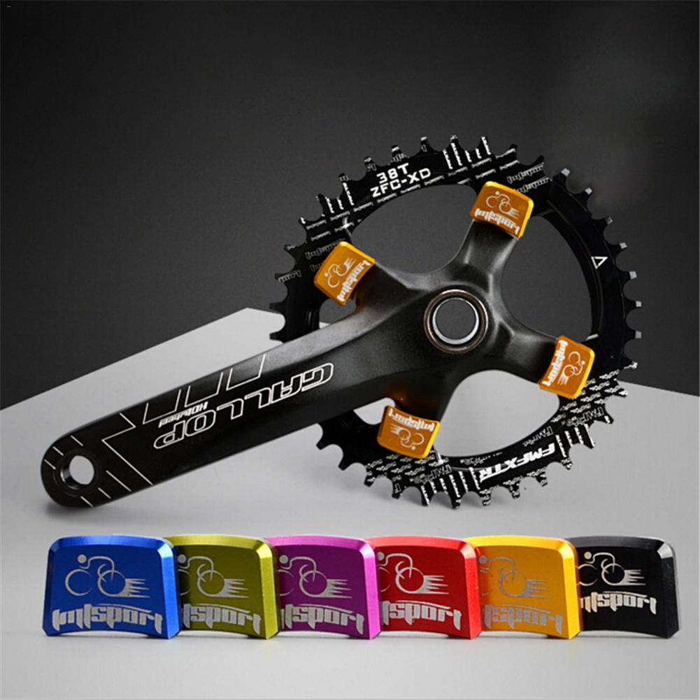 Part Nails MTB Bicycle Crankset Fix End Nut Bike Chain Wheel Accessories Parts