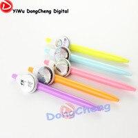 Venta caliente alta calidad Color mezclado 500 unids Lot lindo pluma componente bolígrafos papelería touch stylus Pen bolígrafo