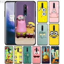 Best Friends Patrick Spongebob Phone Case for Oneplus 7 7Pro 6 6T Oneplus 7 Pro 6T Black Silicone Soft Case Cover