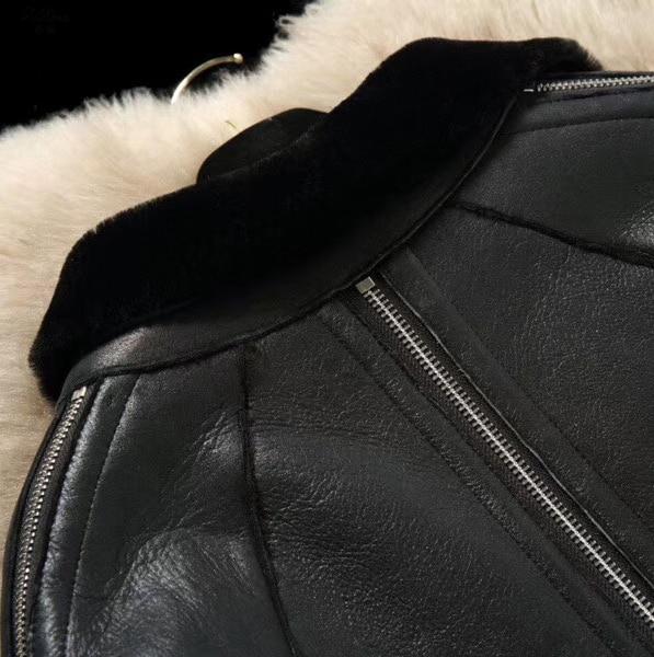 Manteau Zizhen Cuir Hiver 2 Double Réel De D'agneau Mouton Fourrure Noir face Promotion Pardessus Femmes En 1154 Le 180716 Véritable Naturel U4t4x