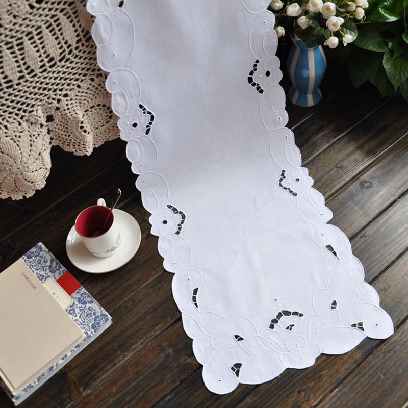 Aliexpress.com : Buy For Sale White Table Runner Embroidery Cotton Table  Runner 2 Size Avaliable From Reliable Cotton Table Runner Suppliers On HOME  LINEN ...