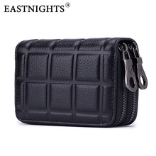 EASTNIGHTS Genuine Leather ID Credit Card Holder Men Rfid Women place Business Name Card Wallet Coin Purse TW2725 2017 genuine leather women men id card holder coin purse card wallet credit card business card holder protector organizer hb43