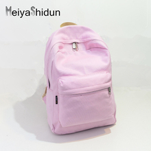 Meiyashidun Brands girls canvas Backpack mochilas mujer faculty sweet shade backpacks Solid college luggage for youngsters women Gift