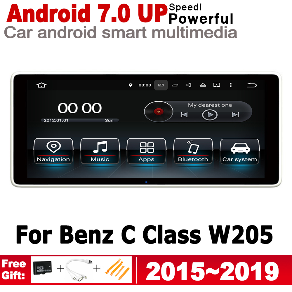 HD Screen Stereo Android Car GPS Navi Map <font><b>For</b></font> <font><b>Mercedes</b></font> Benz C Class W205 2015~<font><b>2019</b></font> NTG Original Style Multimedia Player Radio image