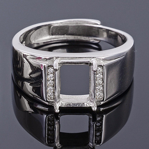 Image 2 - Meibapj 6*8 Real Natural Roze Topaz Edelsteen Mannen Ring Of Lege Ring Ondersteuning Real 925 Sterling Zilver Fijne bruiloft Sieraden