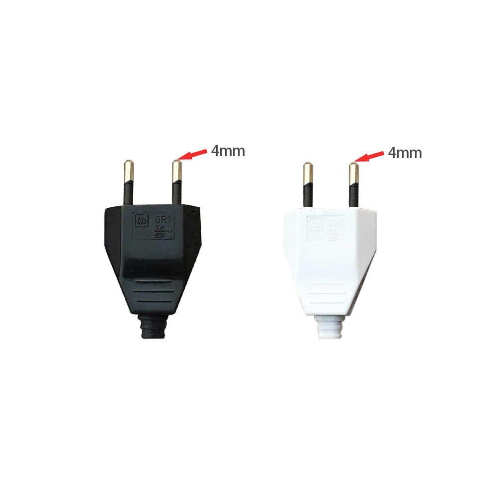 4.0 ミリメートル EU 男性女性バット Vde 電源コードプラグ電源ソケットユーロップ EU プラグ光器具 2 コア接続プラグ