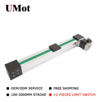 High speed belt drive industrial electric linear rail guide motion actuators 2 meters for building automation