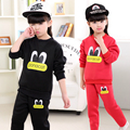 2017 New Children's Clothing Girl Sweet Lovely Cartoon Little Duck Two-piece Suit Boy Long Sleeves Cotton Leisure Sports Suits