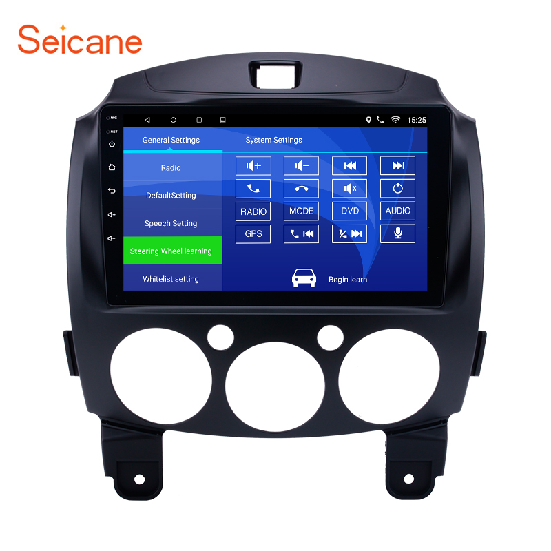 Seicane 9 2 din Android Radio GPS Navigation for 2007 2014 MAZDA 2 Jinxiang DE Third generation with Bluetooth WIFI support DVR