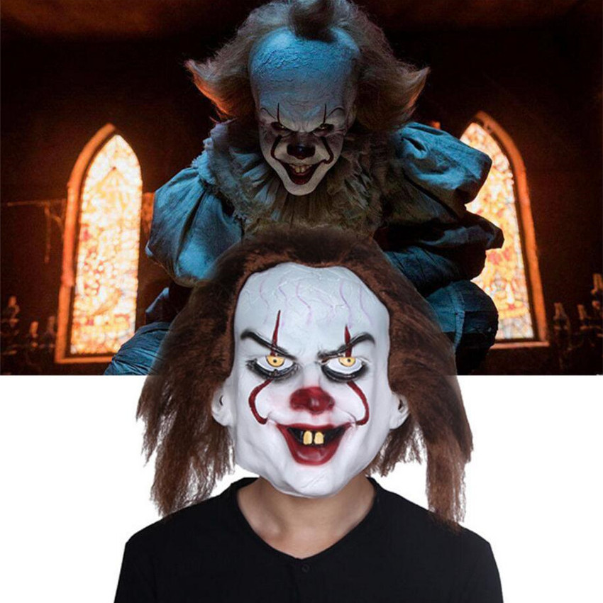 Stephen King's It Mask Clown Full Face Cosplay Halloween Latex Masks Prop