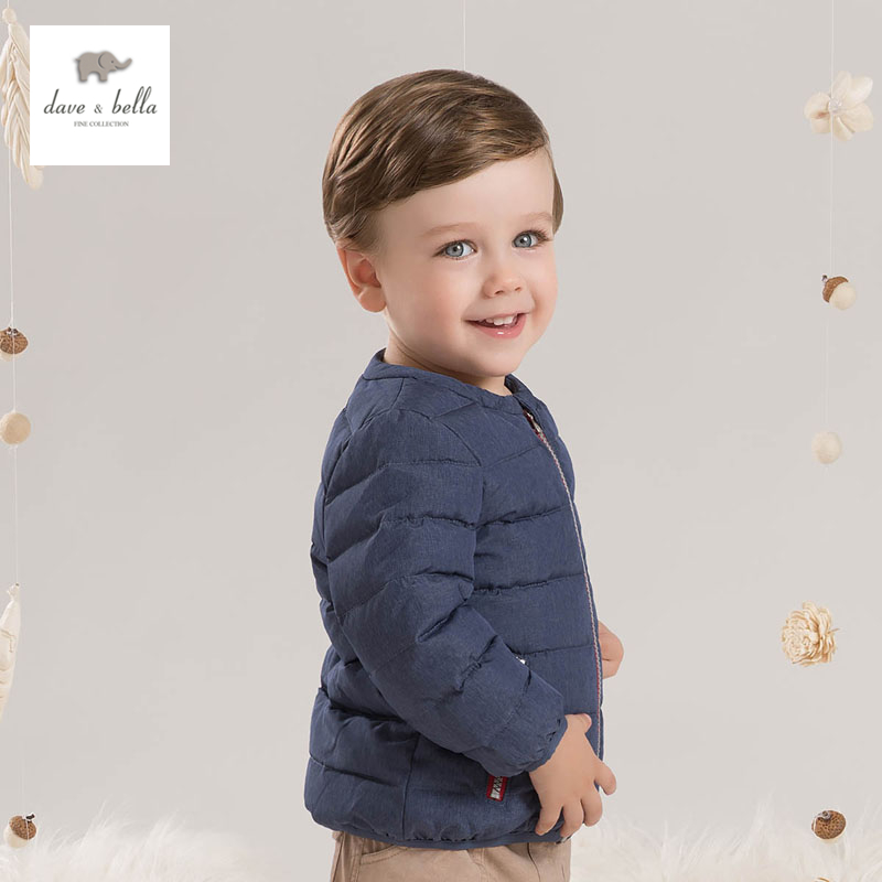 DB4633 dave bella winter  baby boys white duck down jacket slim down jacket mantra loewe 4633