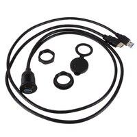 2 M Yüksek Hızlı USB3.0 HDMI Uzatma Floş Dash Paneli Dağı kablo Su Geçirmez USB 3.0 Uzatma Kablosu Kurşun için Araba Tekne motosiklet