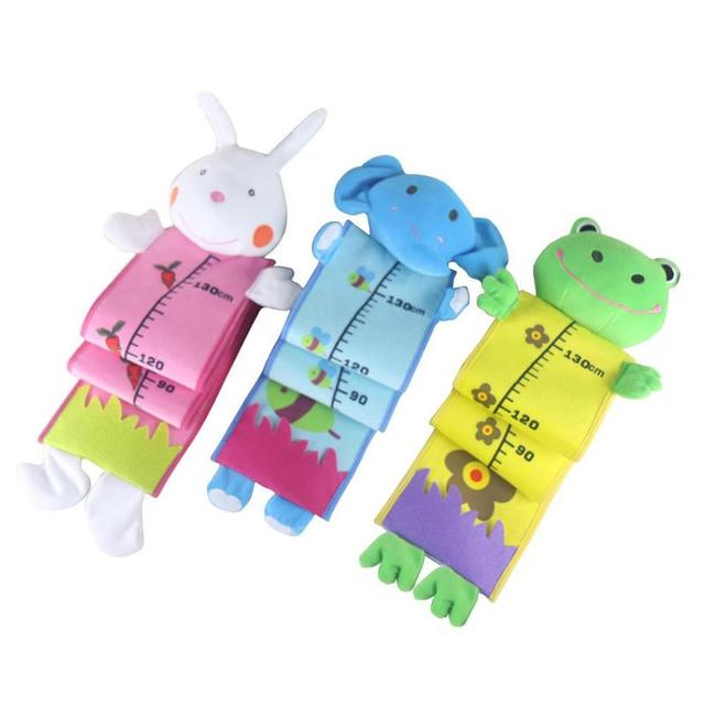 Animal Baby Height Measure Decal Kids Baby Growth Chart Plush Toy