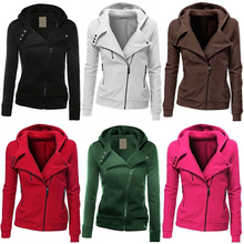 Women Fashion Zipper Hoodie Hooded Sweatshirt Coat Jacket Casual Slim Outwear Femmes camisa chemise camicia Mujer maschi Clothes