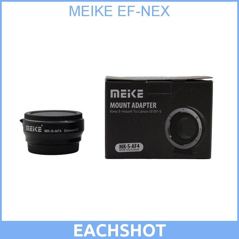 Auto Focus MEIKE EF-NEX Electronic Smart Adapter for Canon EF EFS lens for Sony NEX E Mount NEX-F3/NEX-7/NEX-6/A7/A7R/A7S