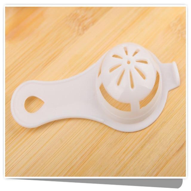 1pc plastique oeuf blanc jaune séparateur Cuisine Accessoires oeuf filtre diviseur pour Cuisine Cuisine Outils Accessoires Cozinha. L 1