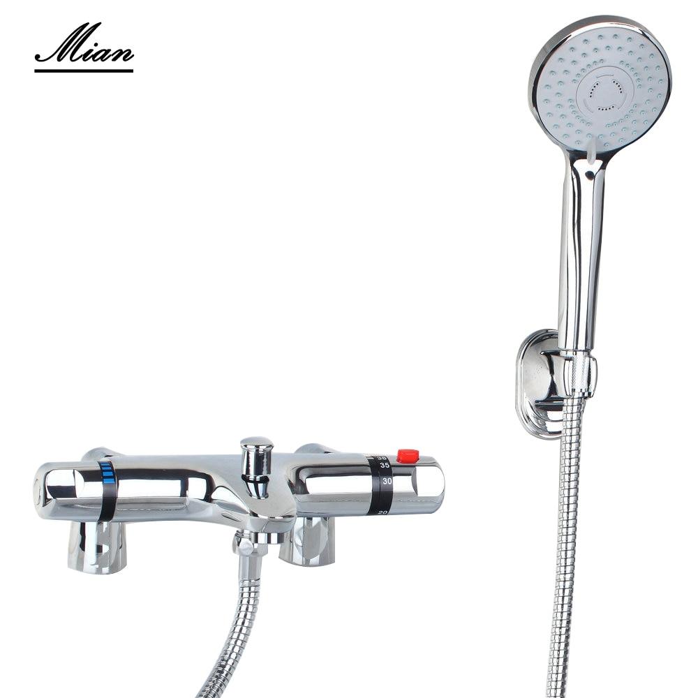 Bathroom Shower Set Torneira Deck Mounted Rainfall Handheld Shower Bathroom 50256 Faucet Set Mixer Valve+Hand Shower gappo classic chrome bathroom shower faucet bath faucet mixer tap with hand shower head set wall mounted g3260