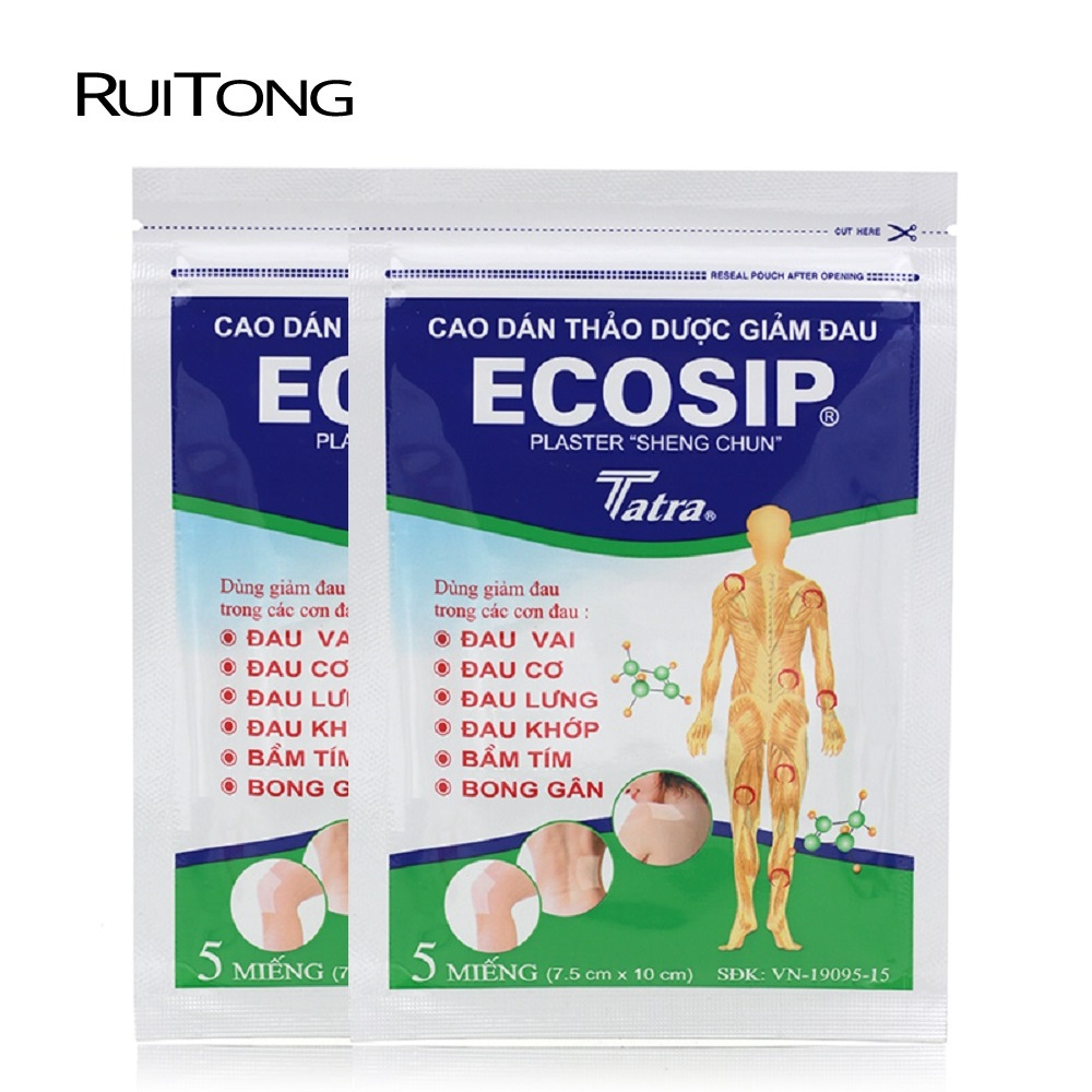 10Pcs/lot Vietnam Ecosip Herb Paster Treatment Osteoarthritis Bone Yperplasia Self Adhesive Rheumatism Pain Relief Patch