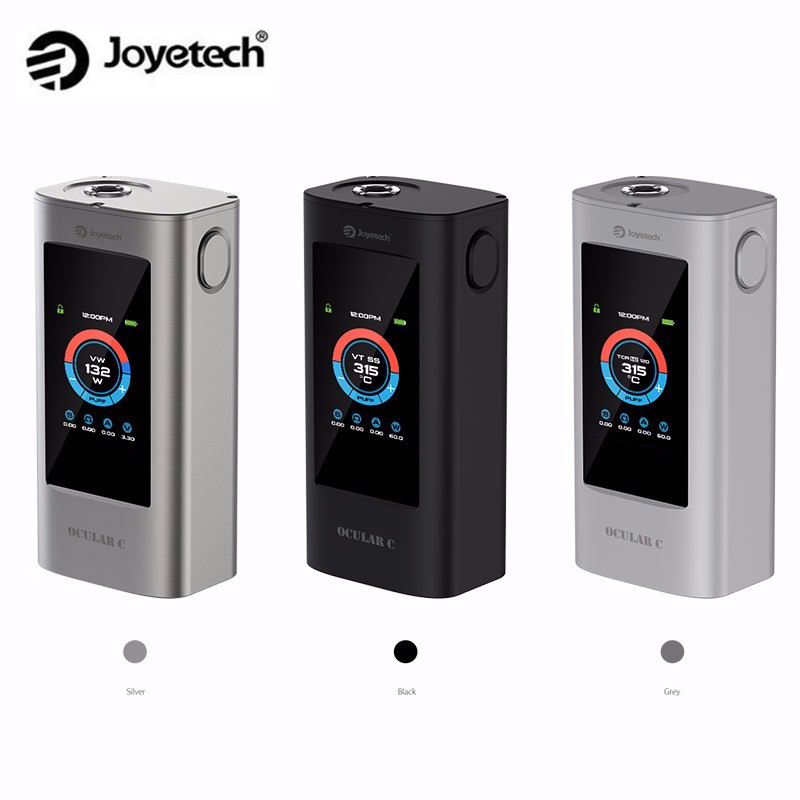 Original Joyetech Ocular C Mod 150W Box Mod Powred by Dual 18650 Batteries Support Bluetooth touchscreen Mod in stock