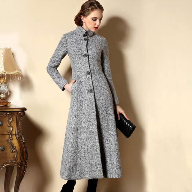 7a7cfc50ea4f8 2018 Autumn and Winter Fashion Cashmere Coat Women s Wool Coats vintage  Woolen Jacket Outerwear Female long Overcoat Trench Coat