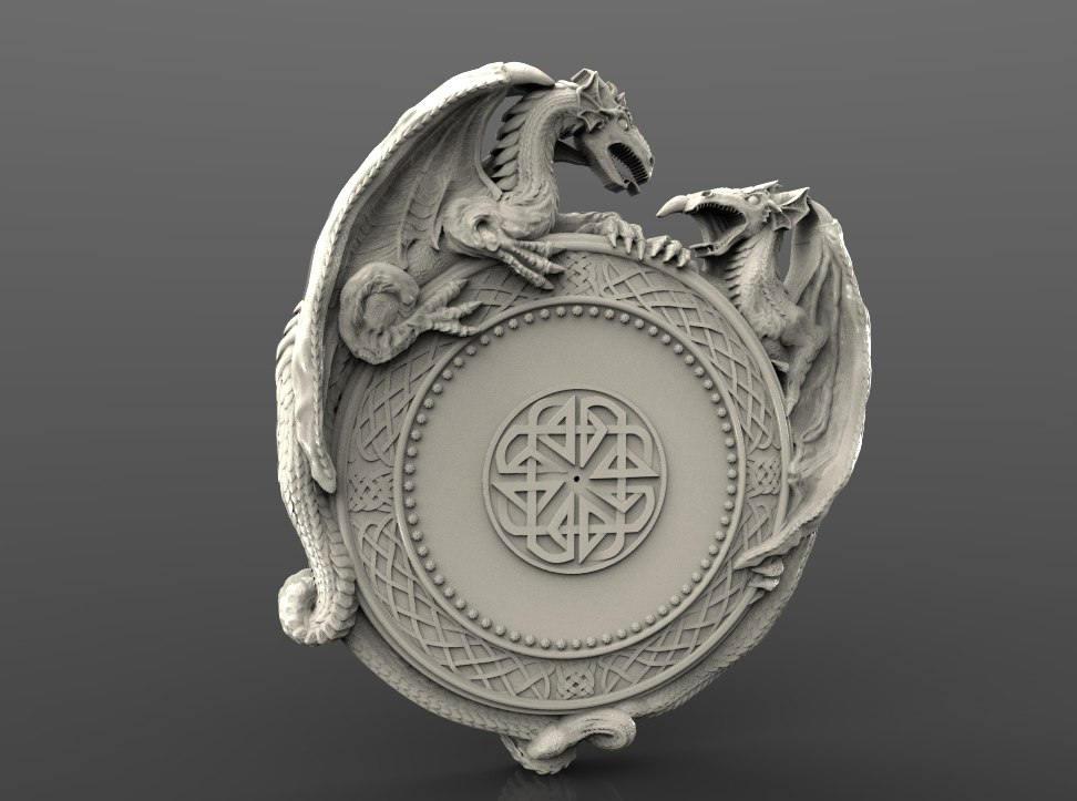 Stl 2.5d 3d Vectric Aspire Cut3d Artcam Model Of Clock For Cnc Carving