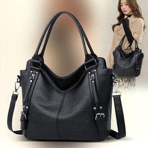 Image 1 - Kadın çanta deri lüks kadın çantası tasarımcı büyük kapasiteli alışveriş omuz çantaları kese bayanlar Tote kadınlar için Crossbody çanta