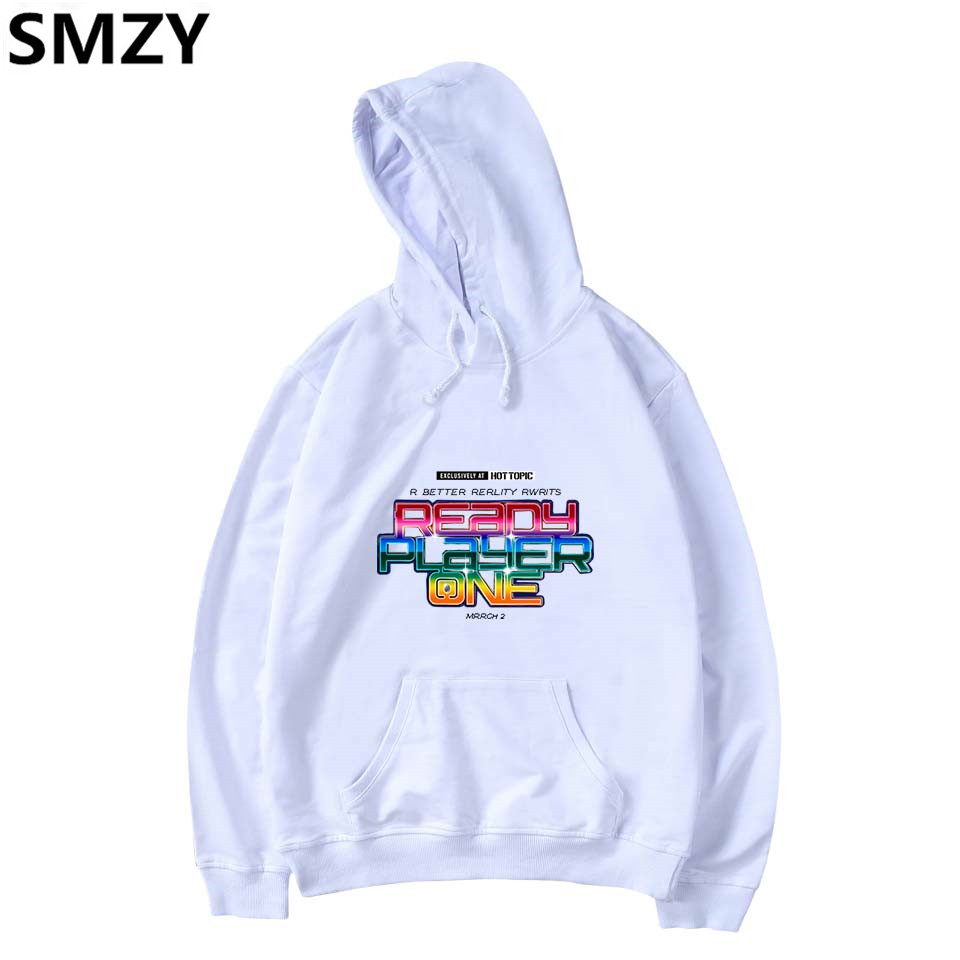 SMZY Ready Player One Hoodies Mens Sweatshirts Funny Casual Popular Games Film Sweatshirts Men Black Fashion Streetwear Clothes