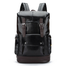2019 Fashion Men Pu Leather Backpacks Large Capacity Travel Rucksack Teenager Leisure Laptop Mochila Escolar Duffel School Bags