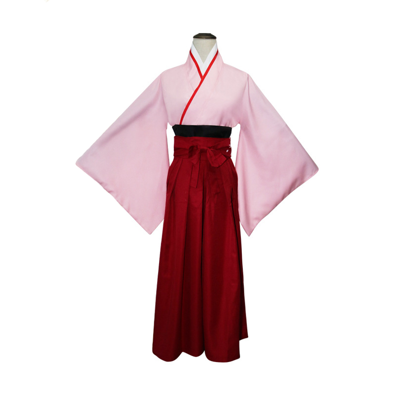 Anime Fate Saber Girl Cosplay Costume Traditional Japanese Lady Shirt+Skirt Kimono Suit Novelty Dress Stage Performance Robe