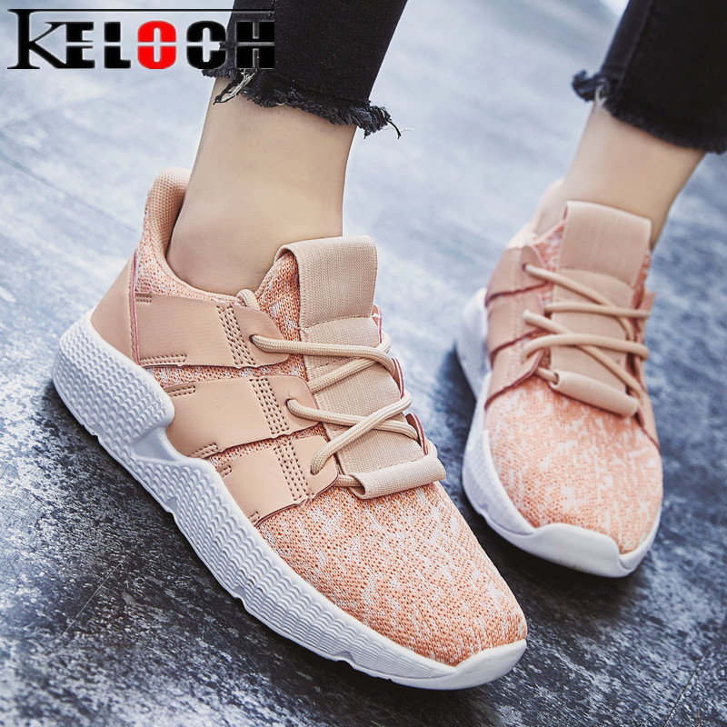 Keloch 2018 Spring New Women Casual Shoes Krasovki Summer Breathable Flats Female Platform Shoes Women Krasovki Zapatos Mujer tesilixiezi new spring summer fashion candy color bling flats platform shoes wegde breathable women casual shoes footwear