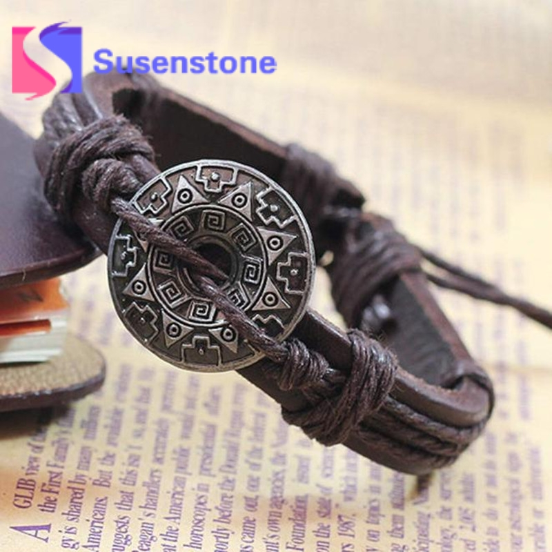 Audacious 2018 Vintage Bohemia Wind Multilayer Leather Bracelet For Men And Women Hand Woven Charm Cuff Bracelet Bangle All-match Pulsera