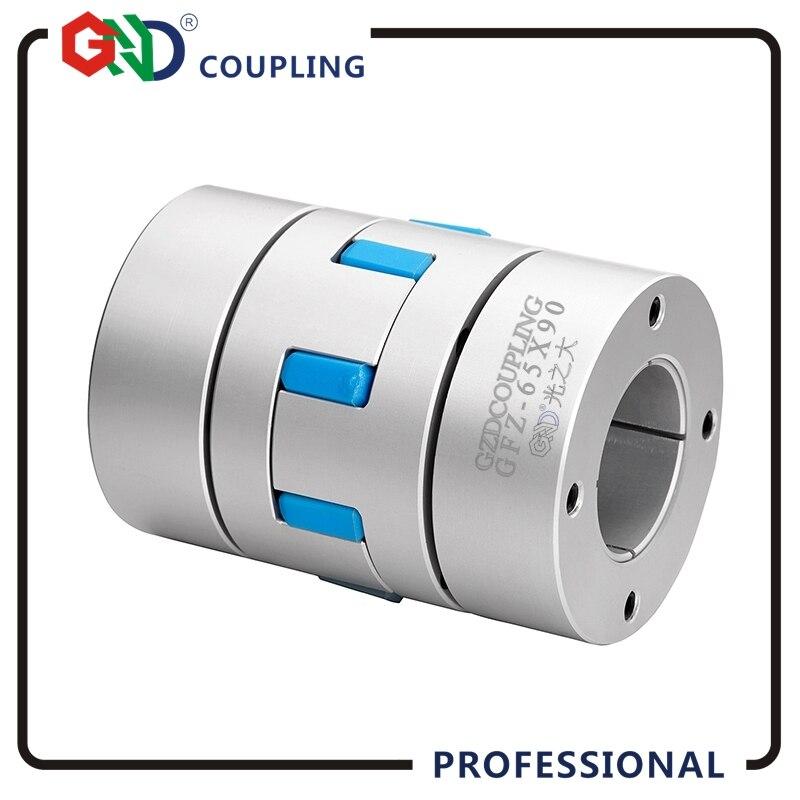 GND haute standard en aluminium alliage plum jaw verrouillage assemblies CNC couplage D30 L50 diaphragme sleev oldham flexible arbre couples