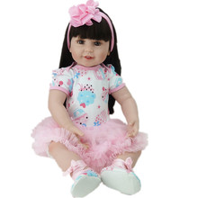 Kids Toys Gift 22 inch Doll Vinyl Reborn Baby Doll Big Eyes Realistic Newborn Baby Toy Lifelike Baby Alive Doll Juguetes Toys