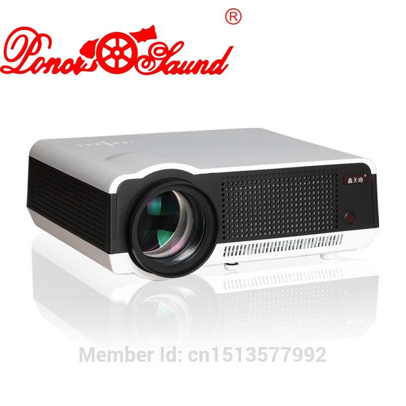 Poner Saund Proyector LCD tv usb envío 100 ''cortina de vídeo led Proyector de c