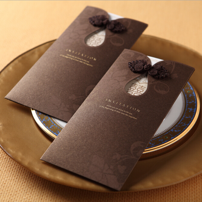 Free Personalized Printing 2017 Elegant Laser Cut Wedding Invitations Cards Chocolate Card Envelope Hot Sting Vogue In From Home
