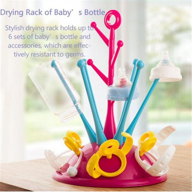 Simple tree Bottle dry rack Baby bottle Bottle Drying  Cleaning Shelf  Feeding Cup Nipple Holder Tools