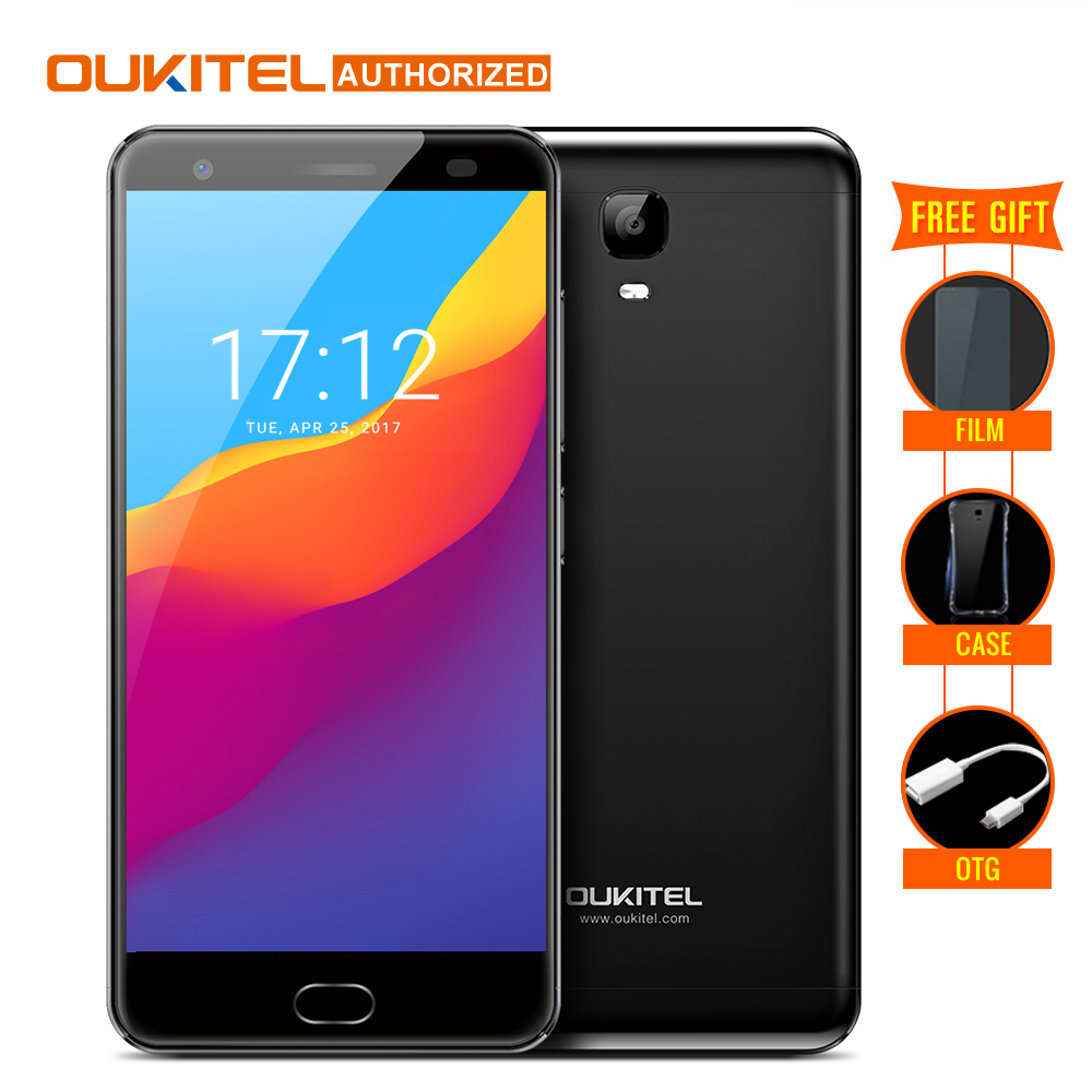 OUKITEL K6000 Plus Android7.0 Handy 5,5 ''MTK6750T Octa-core 4 GB RAM 64 GB ROM 8MP + 16MP 6080 mAh Finger ID 12 V/2A Handy