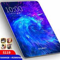 Tablette grand écran en verre 10.1 pouces Android 9.0 Octa Core 6 GB RAM 64 GB ROM 3G 4G LTE 1280*800 IPS 5.0MP carte SIM tablette ips