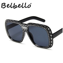 Belbello Unisex Sunglasses Men European American Trends New Women Bling With Diamonds Fashion Lovers