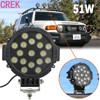 51W LED Work Light Bulbs Spot Flood Combo Beam For Driving Fog Lights Led Car Lights